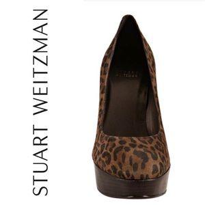 Stuart Weitzman Leopard Print Platform Heel Size 8